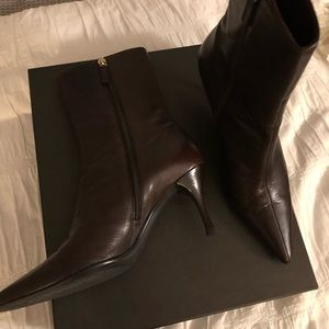 "EUC! GUCCI ""ranch kid"" booties (sze 7 cocoa brown)"
